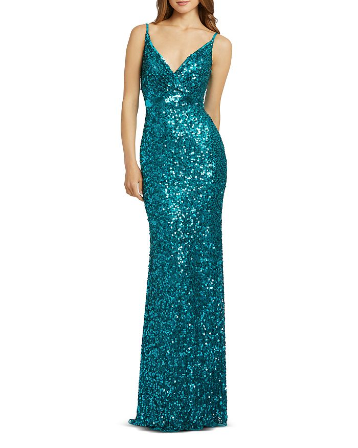 Mac Duggal - Sequined Sheath Gown