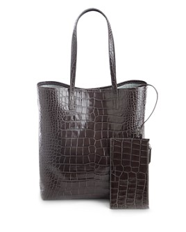 ROYCE New York - Embossed Leather Tote Bag