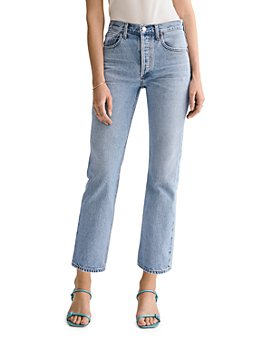 AGOLDE - Ripley Cotton High-Rise Straight Jeans in Riptide