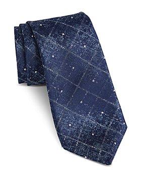 John Varvatos Star USA - Fillmore Faded Diamond Classic Silk Tie