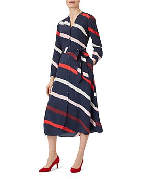 HOBBS LONDON - Ginnie Striped Shirt Dress