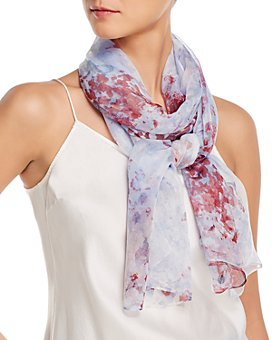Fraas - Watercolor Floral Silk Scarf