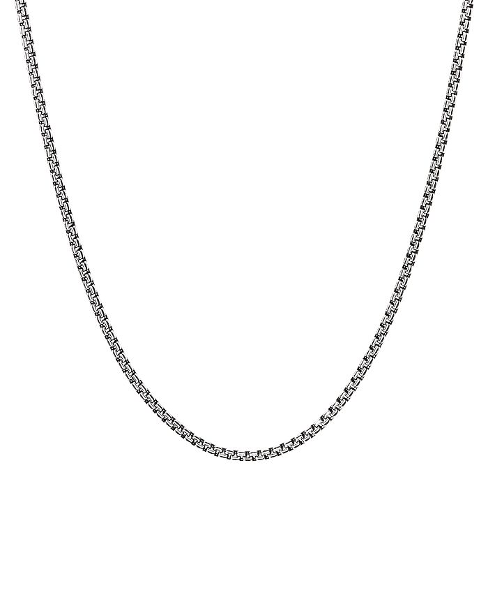 "David Yurman - Sterling Silver Small Double Box Chain Necklace, 26"""