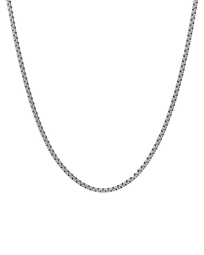 """David Yurman Sterling Silver Small Double Box Chain Necklace, 26""""    Bloomingdale's"""