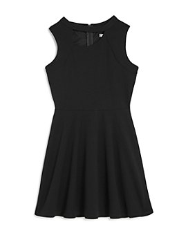Sally Miller - Girls' Stretch Crepe Asymmetrical Cutout Fit-and-Flare Dress - Big Kid