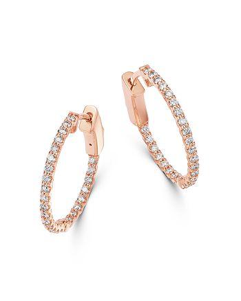 Bloomingdale's - Diamond Inside Out Hoop Earrings in 14K Rose Gold,0.50 ct. t.w. - 100% Exclusive