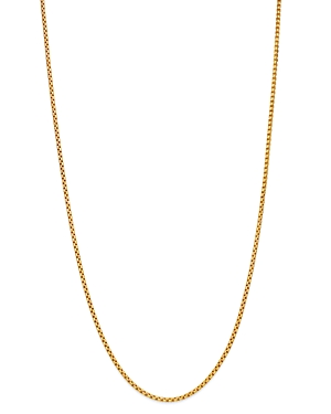 Box Link Chain Necklace in 14K Yellow Gold