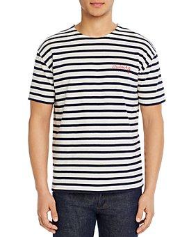 Maison Labiche - Cruising Embroidered Stripe Tee