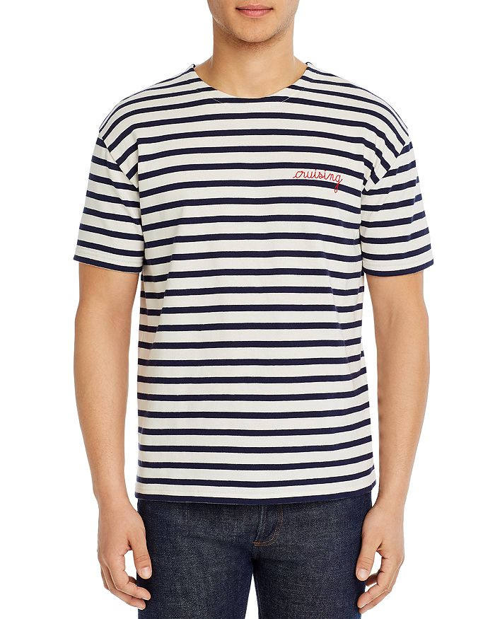 Maison Labiche - Cruising Embroidered Stripe Tee