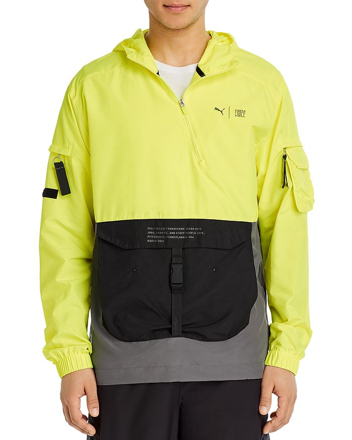 PUMA - First Mile Color-Blocked Hooded Regular Fit Utility Jacket