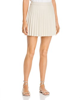 cupcakes and cashmere - Cannes Pleated Faux-Leather Skirt