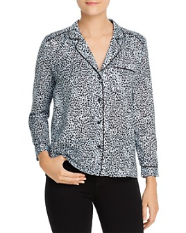 cupcakes and cashmere - Leopard-Print Satin Blouse