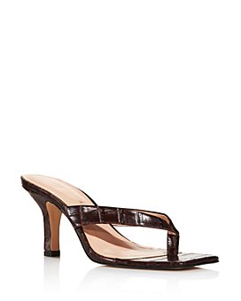 KURT GEIGER LONDON - Women's Bianka Croc-Embossed Strappy High-Heel Sandals - 100% Exclusive