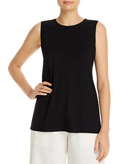Eileen Fisher Petites - Crewneck Long Tank