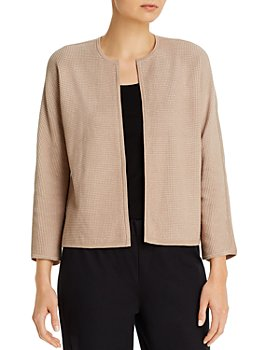 Eileen Fisher Petites - Petites Round-Neck Textured Cardigan
