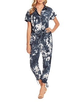 VINCE CAMUTO - Tie-Dyed Short-Sleeve Jumpsuit