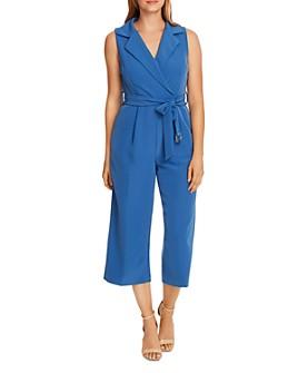 VINCE CAMUTO - Faux-Wrap Belted Jumpsuit