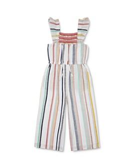 Peek Kids - Girls' Chelsi Striped Jumpsuit - Little Kid, Big Kid