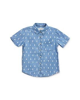 Sovereign Code - Boys' Marengo Cotton Cactus-Print Button-Down Shirt - Little Kid, Big Kid