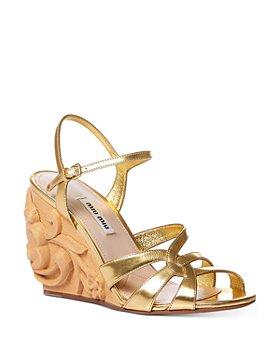 Miu Miu - Women's Calzature Donna Strappy Wedge Sandals