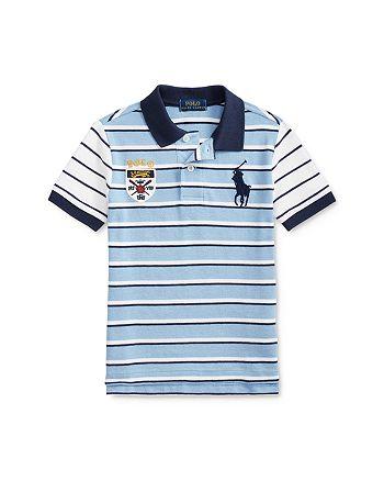 Ralph Lauren - Boys' Cotton Striped Colorblocked Polo Shirt - Little Kid