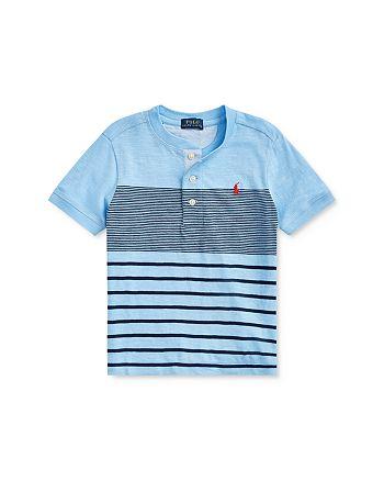 Ralph Lauren - Boys' Cotton Striped Henley Shirt - Little Kid