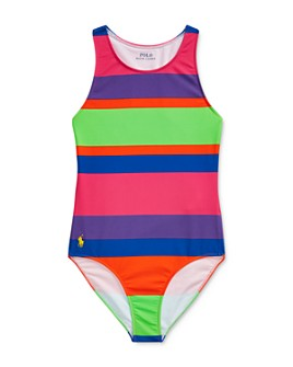 Ralph Lauren - Girls' Striped One-Piece Swimsuit - Big Kid
