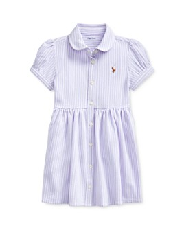 Ralph Lauren - Girls' Oxford Striped Dress & Bloomers Set - Baby
