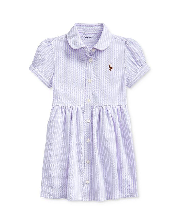 Ralph Lauren - Girls' Oxford Striped Dress & Bloomers Set - Baby