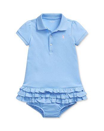 Ralph Lauren - Girls' Interlock Solid Dress & Bloomers Set - Baby