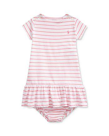 Ralph Lauren - Girls' Jersey Striped Dress & Bloomers Set - Baby