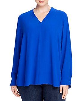 Eileen Fisher Plus - Silk V-Neck Top
