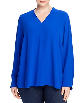 Eileen Fisher Plus - High-Back V-Neck Top