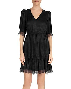 The Kooples - Coffy Embossed Lace-Trim Dress