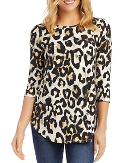 Karen Kane - Printed Shirttail-Hem Top
