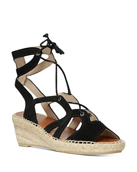 Andre Assous - Women's Deanna Lace Up Espadrille Wedge Sandals