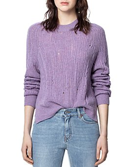 Zadig & Voltaire - Lili Distressed Cashmere Sweater
