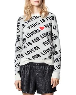 Zadig & Voltaire - Anouk Cashmere Printed Sweatshirt
