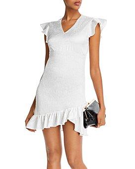 AQUA - Smocked Ruffled Dress - 100% Exclusive