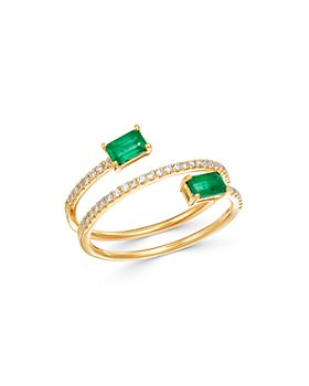 Bloomingdale's - Emerald & Diamond Coil Ring in 14K Yellow Gold - 100% Exclusive