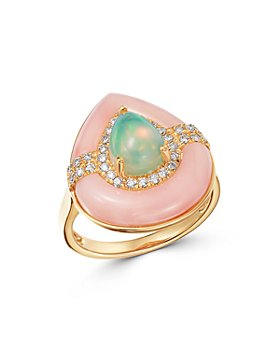 Bloomingdale's - Opal, Pink Opal & Diamond Statement Ring in 14K Yellow Gold - 100% Exclusive
