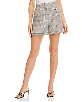 AQUA - Glen Plaid Shorts - 100% Exclusive