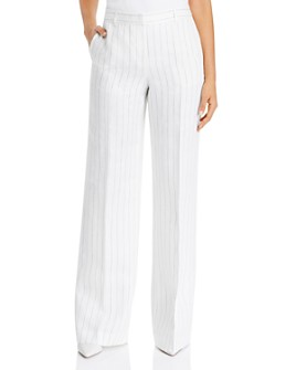 Lafayette 148 New York - Dalton Striped Wide-Leg Pants