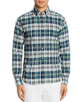 Original Madras Trading Co. - Plaid Long-Sleeve Regular Fit Button-Down Shirt