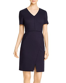Elie Tahari - Alessandra V-Neck Sheath Dress
