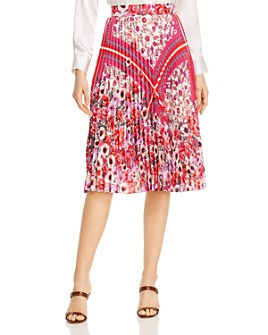 Elie Tahari - Delilah Pleated Floral-Print Skirt