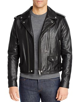 The Kooples - The Kooples Cow Irish Cropped Leather Jacket