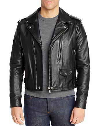 The Kooples - Cow Irish Cropped Leather Jacket