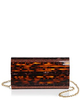 Sondra Roberts - Small Tortoise-Look Flap Clutch
