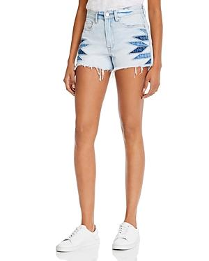 Blanknyc Cotton Frayed Denim Shorts in Borderlines-Women